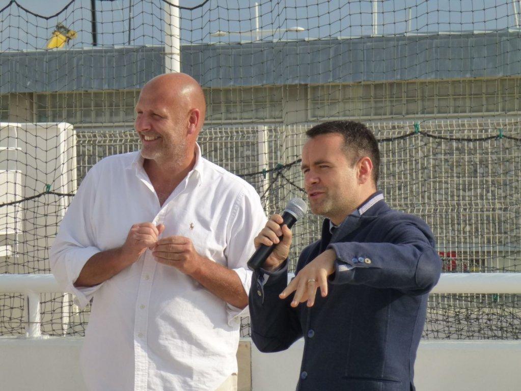PJ. Baudouard et S. Tasserie, adjoint au sport