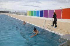 Les premiers nageurs de la saison