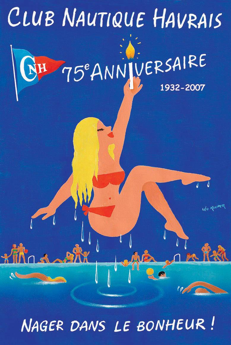 Affiche 75e Anniversaire - Club Nautique Havrais