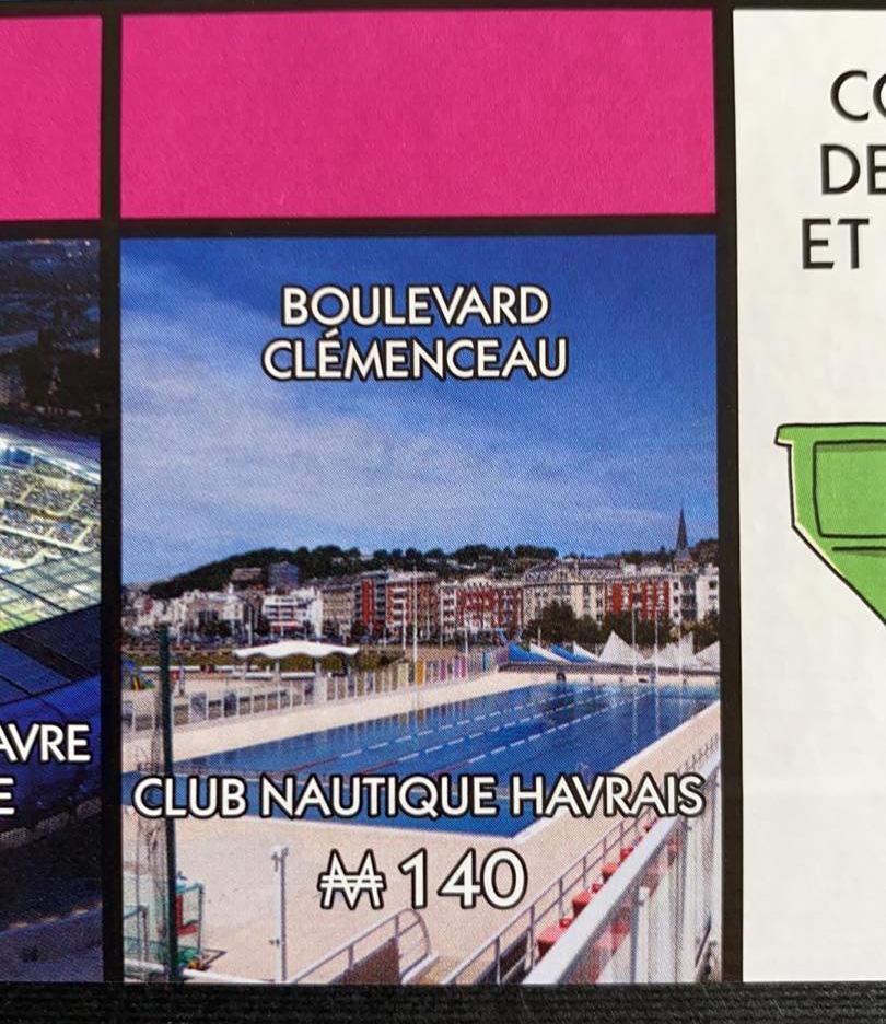 Le Club Nautique Havrais est représenté dans la nouvelle édition du Monopoly Le Havre.
